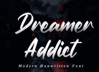Dreamer Addict - Bold Script Font