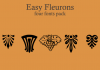 Easy Fleurons Font