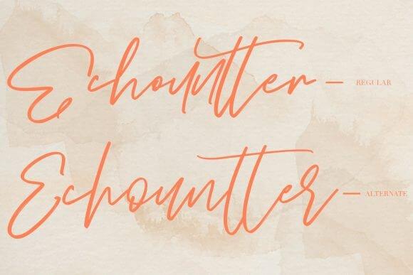Echountter Font