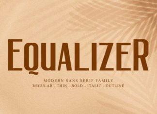 Equalizer Font