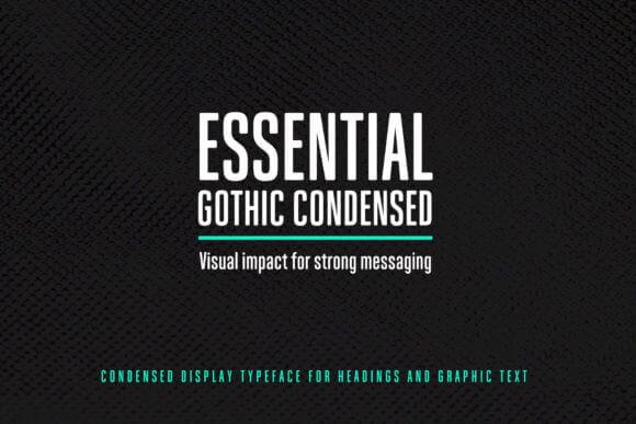 Essential Gothic Condensed Font