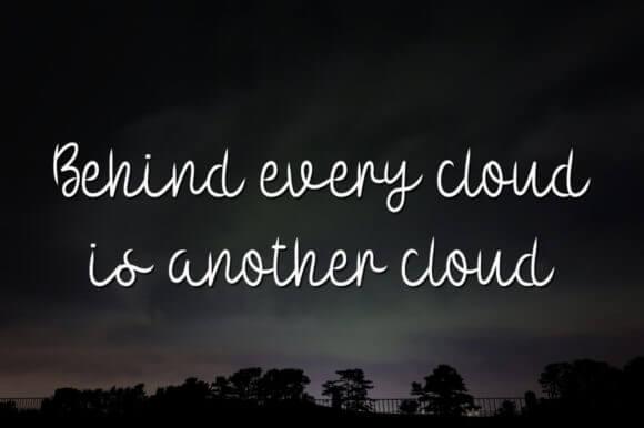 Evening Cloud Font