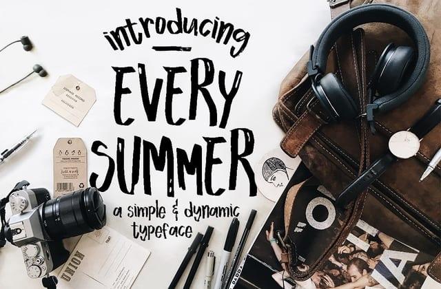 Every Summer Script Font