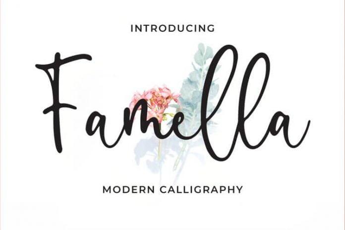 Famella - Modern Calligraphy Font