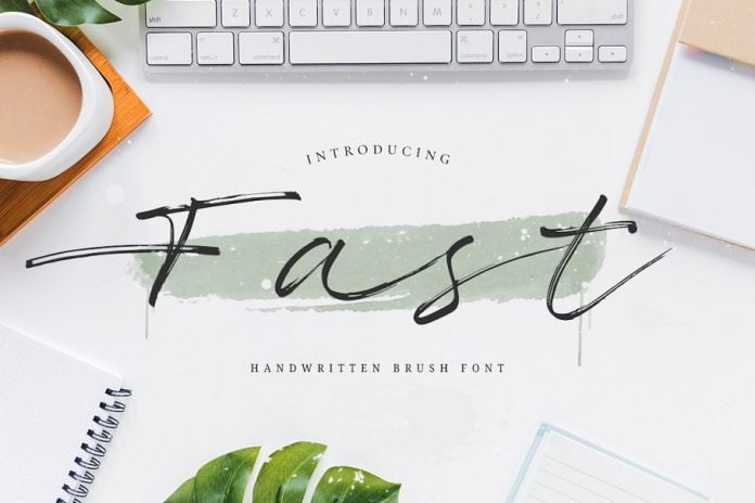 Fast - Handwritten Brush Font