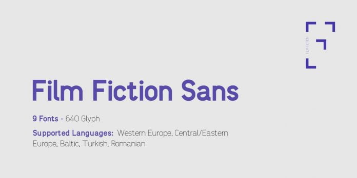 Film Fiction Sans Font