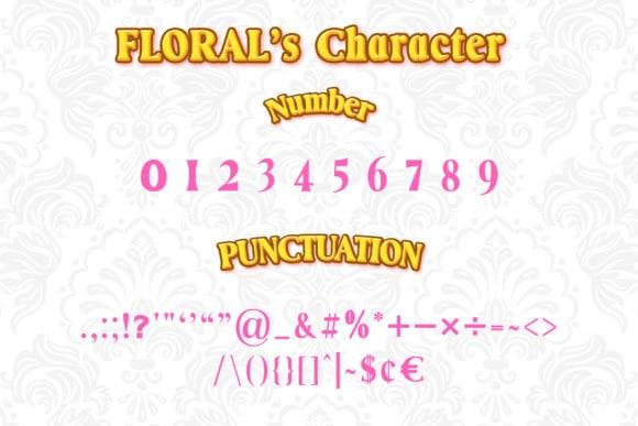 Floral Serif Font