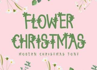 Flower Christmas Font
