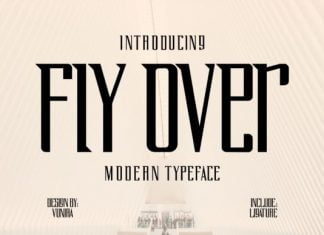 Fly Over Font