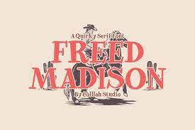 Freed Madison - Quirky and Playful Serif Font