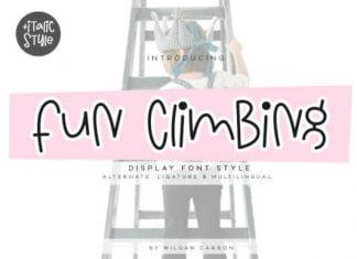 Fun Climbing Font