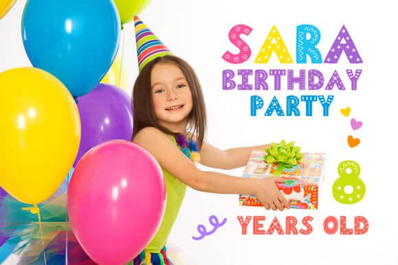 Funny Kids Party Font