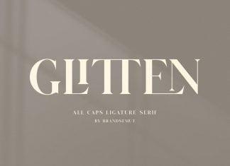 GLITTEN - All Caps Ligature Serif font
