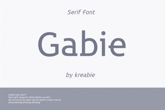 Gabie Font