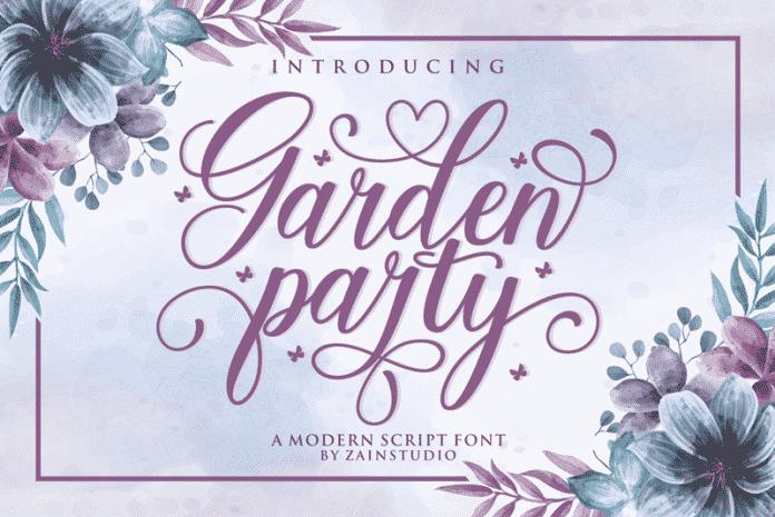 Garden Party Script Font
