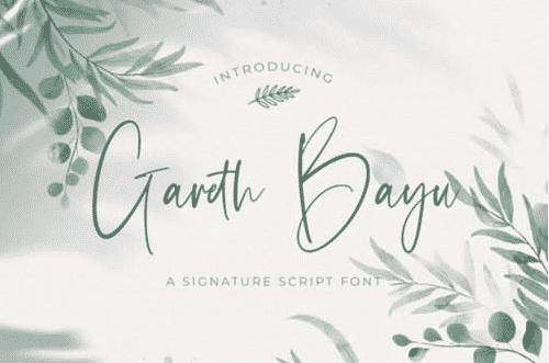 Gareth Bayu Font