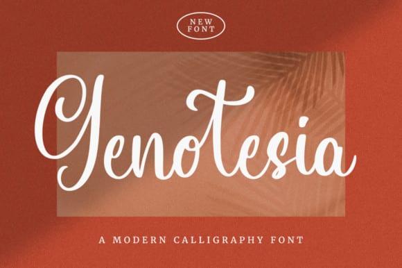 Genotesia Font