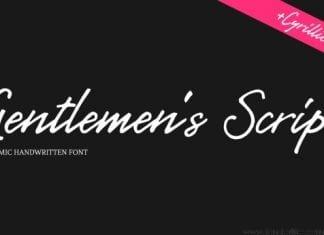 Gentlemen's Script Font