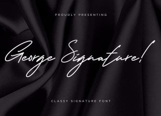 George Signature Classy Font