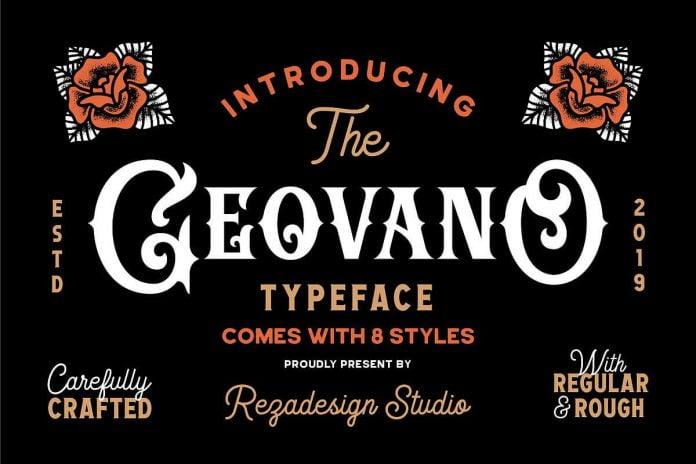 Geovano - Vintage Font Family