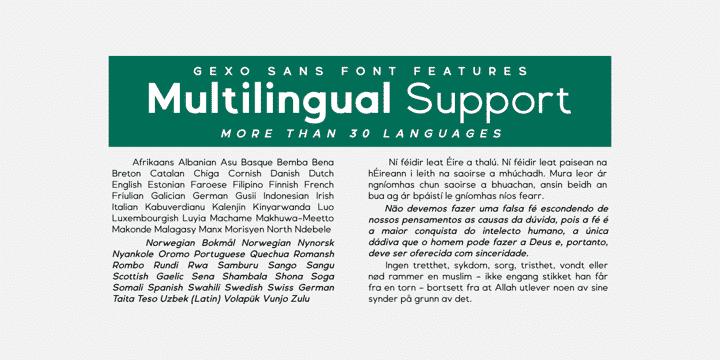 Gexo Sans Font Family