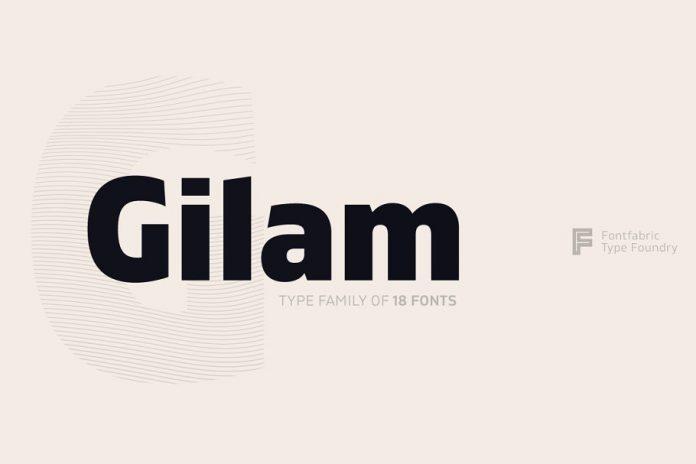 Gilam font Cyrillic