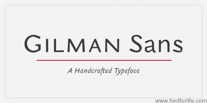 Gilman Sans Font Family