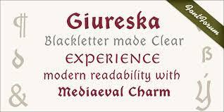 Giureska Family 5 Styles Font
