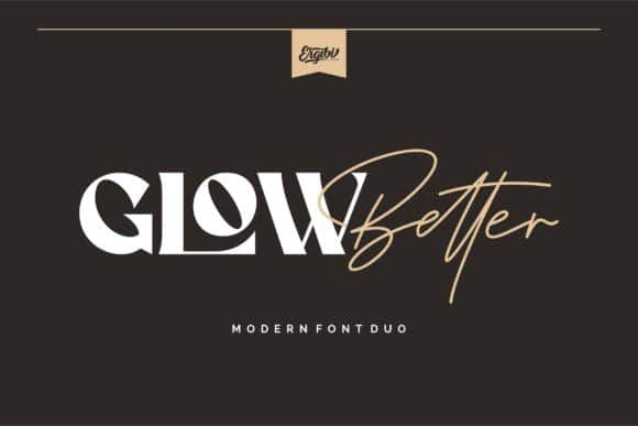 Glow Better Font