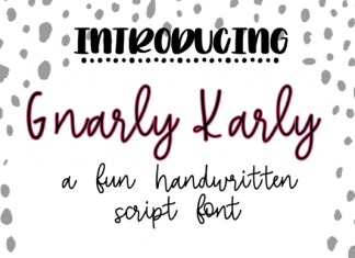 Gnarly Karly Font