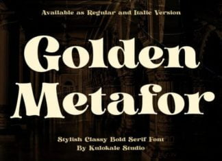 Golden Metafor - Classy Bold Serif