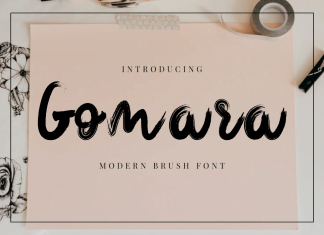 Gomara - Modern Handwritten Brush Font