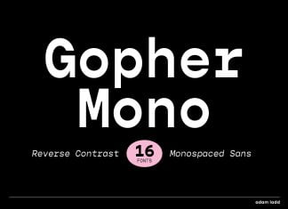Gopher Mono Font Family