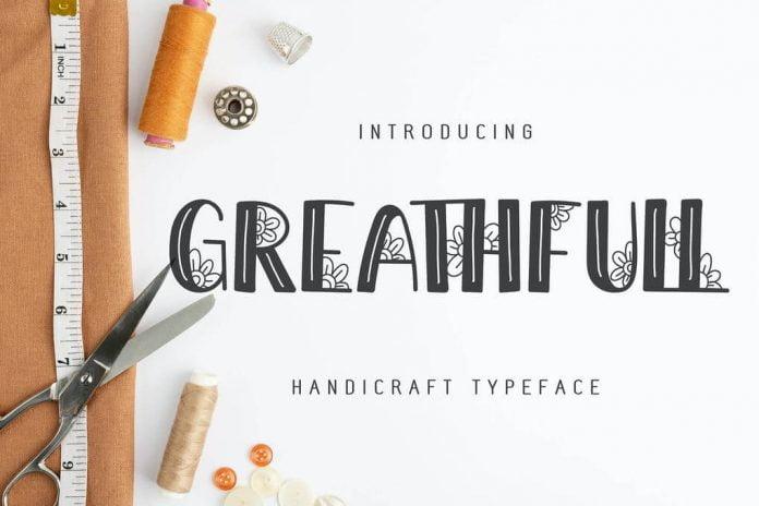 Greathfull Handicraft Typeface