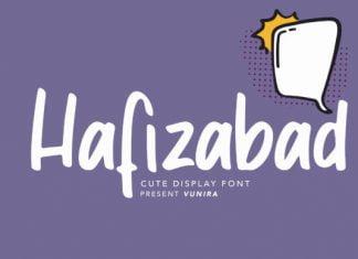 Hafizabad Cute Display Font
