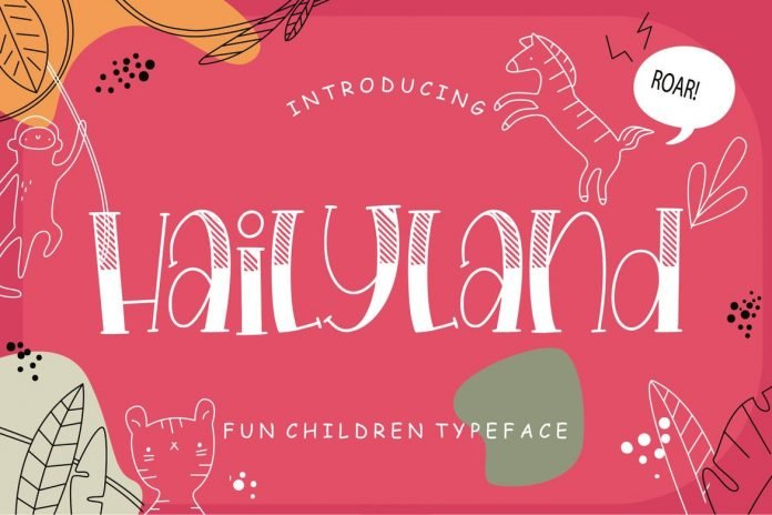 Hailyland Fun Children Typeface