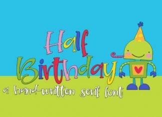 Half Birthday Font