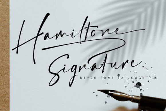 Hamiltone Signature Font