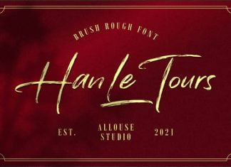 Han Le Tours - Brush Rough Font