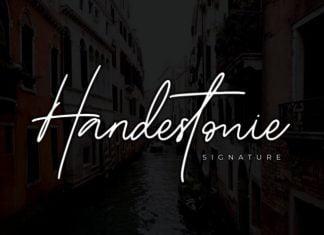 Handestonie - Signature Font