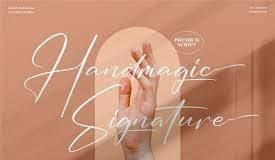 Handmagic Signature - Font