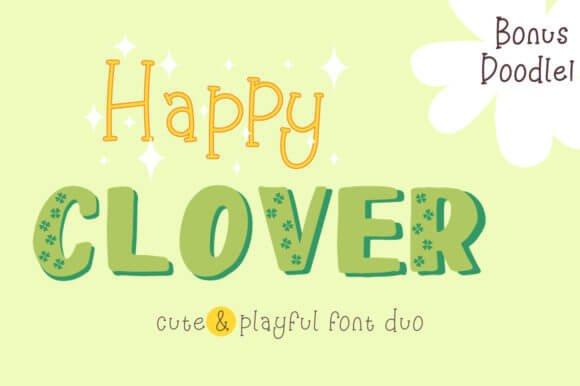 Happy Clover Family Font