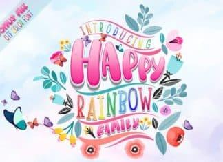 Happy Rainbow Family Font