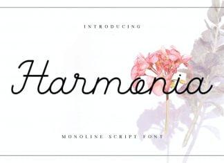 Harmonia Monoline Script Font