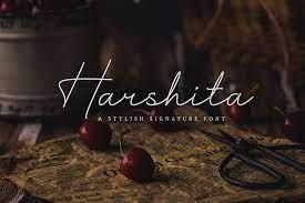 Harshita - A Stylish Signature Font