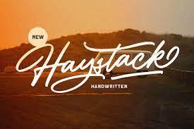 Haystack - Handwritten Script Font