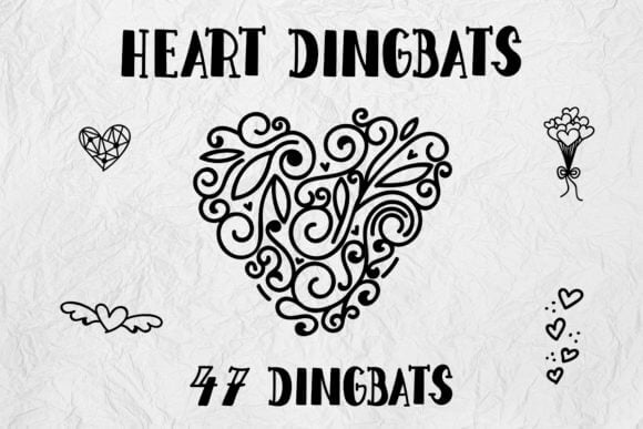 Heart Dingbats Font