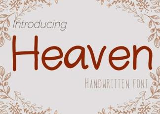 Heaven Font