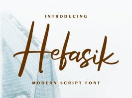 Hefasik Modern Script Font