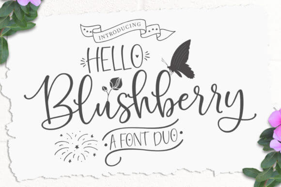 Hello Blushberry Duo Font